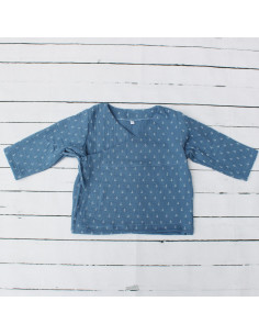 Wickeloberteil Blue Anchors I Sommer-Tragekleidung für dein Baby