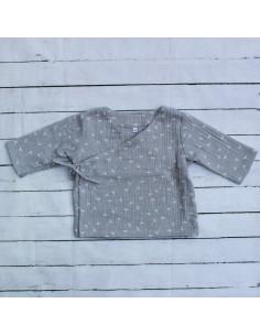 Wickeloberteil Dandelions Gray I Sommer-Tragekleidung für dein Baby