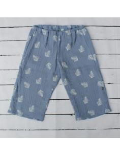 Hose für Tragebabys Blue Feathers I Sommer-Tragekleidung für dein Baby