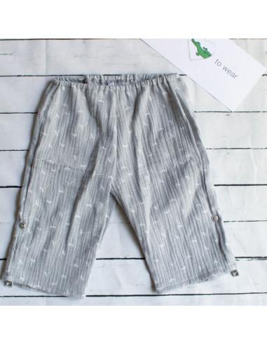 Hose für Tragebabys Feathers Grey I Sommer-Tragekleidung für dein Baby