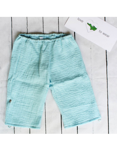 Hose für Tragebabys Turquoise I Sommer-Tragekleidung für dein Baby