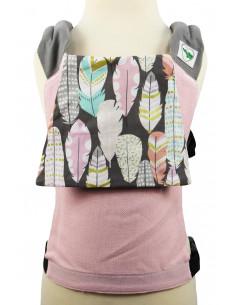 Buzzidil für Plaudertaschen Pink Feathers | Puppentrage