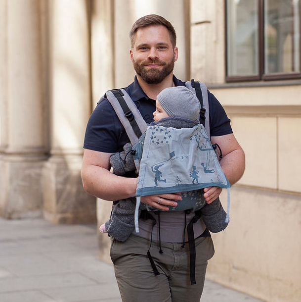 Buzzidil Evolution steplessly growing baby carrier
