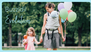 Buzzidil Evolution – the growing baby carrier easy to adapt